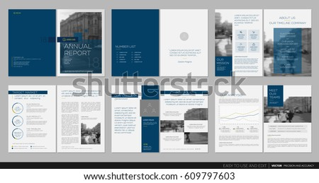 Design Annual Report, Cover, Vector Template Brochures, Flyers,  Presentations, Leaflet,