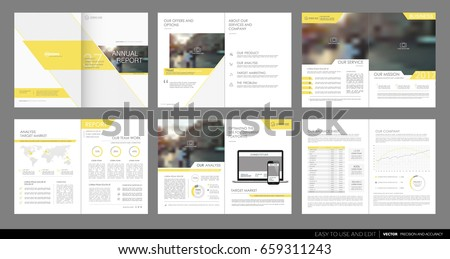 Company Leaflet Brochure Template Design In A Size Download - Templates for brochures