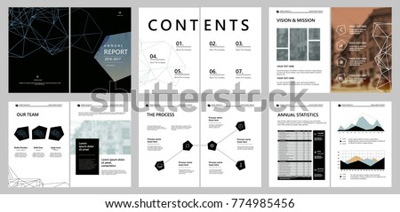 Design annual report, cover, vector template brochures, flyers, presentations, leaflet, magazine a4 size. Minimalistic abstract templates - stock vector