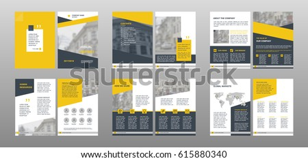 Design annual report,vector template brochures, flyers, presentations, leaflet, magazine a4 size. Geometric elements on a white background. - stock vector