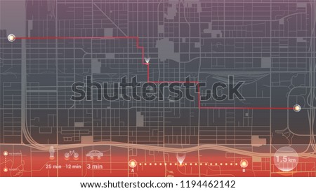 design art gps infographic map city phoenix