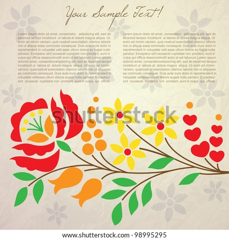Design background with flowers