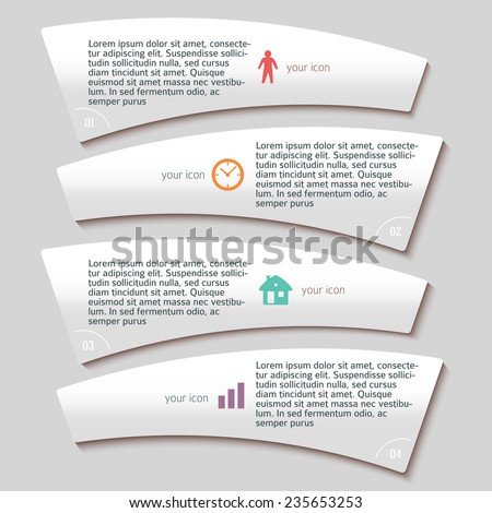 Design business presentation template. Vector illustration for technology infographics / number banners / charts and graphs or powerpoint background/ graphs and tables. EPS 10