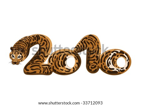 design character-year tiger symbolizes luck and protection