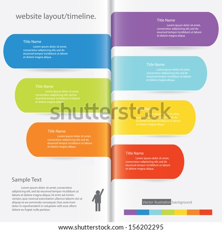 Design clean number banners template graphic or website layout timeline Vector