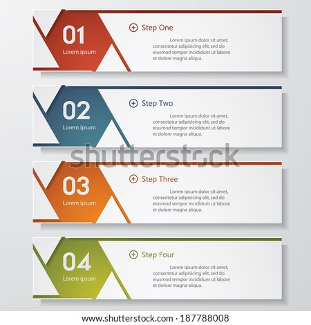 Design clean number banners template graphic or website layout Vector