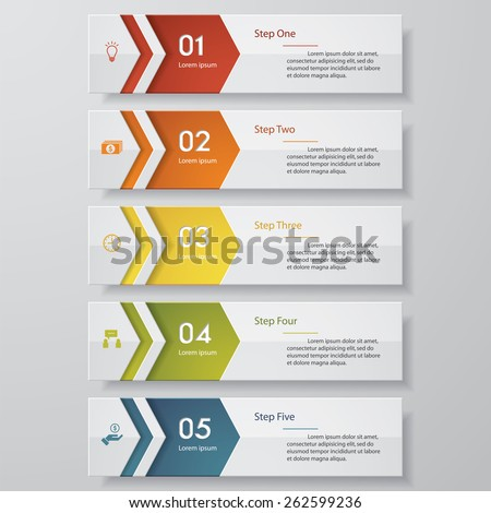 design clean number banners
