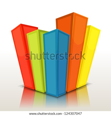 Design Columns And Stats Bars/ Illustration of a graphic business design 3d charts and statistics bars or buildings background