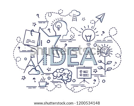 Design concept for Idea. Infographic idea of making creative products.
