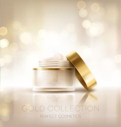 Design cosmetics product advertising. Vector illustration EPS10