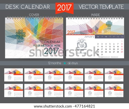 Design Template Of Desk Calendar 2018 Download Free Vector Art