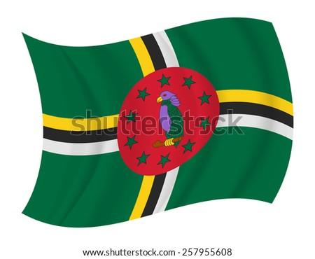 design dominica flag waving