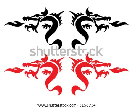 design dragon tattoo element