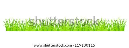 Design element - cartoon green grass. EPS10 vector.
