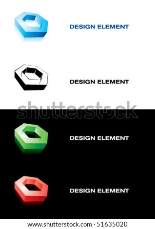 Design element. Nut