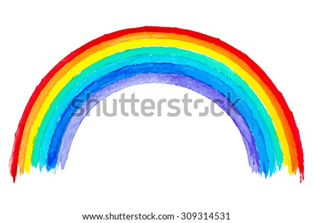 design element. watercolor rainbow image