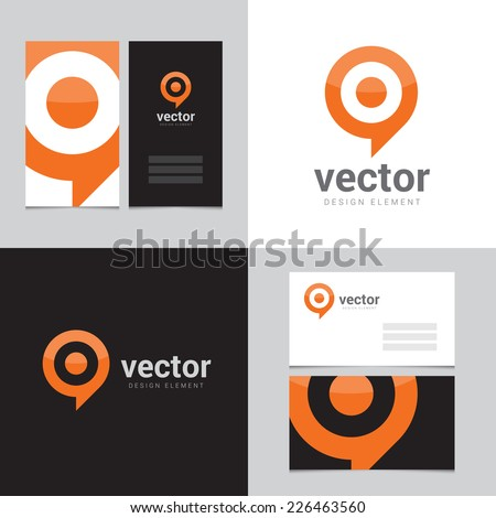 Design element with two business cards 02