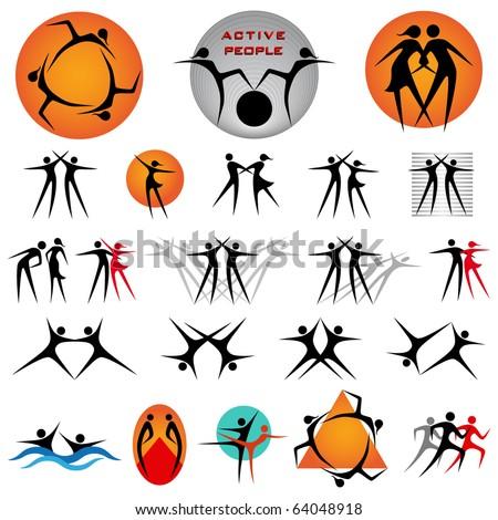 Design elements-active people