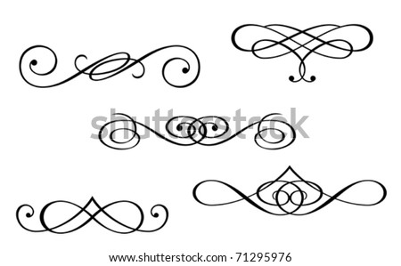 Design elements and monograms isolated on white. Jpeg version also available in gallery