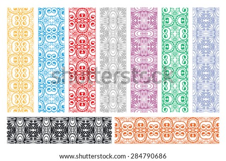 Design elements and page decoration. Vector decorative borders collection #284790686