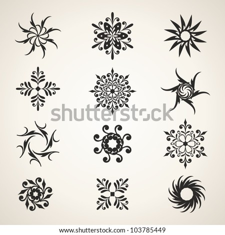Design elements. Christmas decoration.