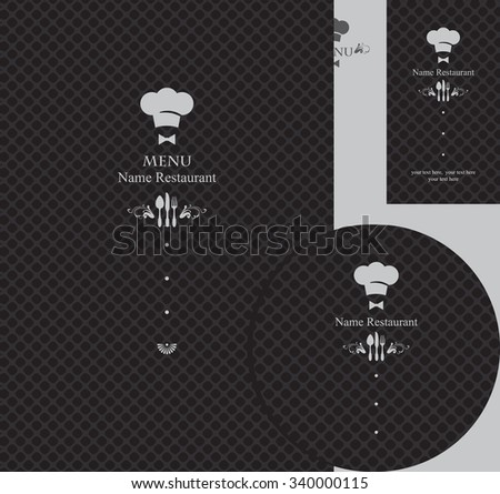 design elements for a restaurant in the black Foto stock ©