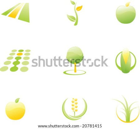 Design elements for agriculture logos