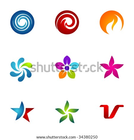 Design elements or logotype design - Set 9