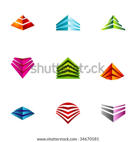 Design elements or logotype design - Set 25 - stock vector
