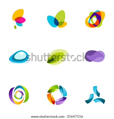 Design elements or logotype design - Set 47