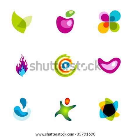 Design elements or logotype design - Set 51