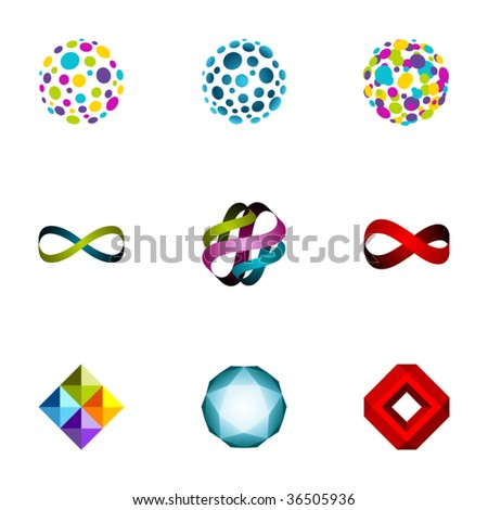 Design elements or logotype design - Set 66