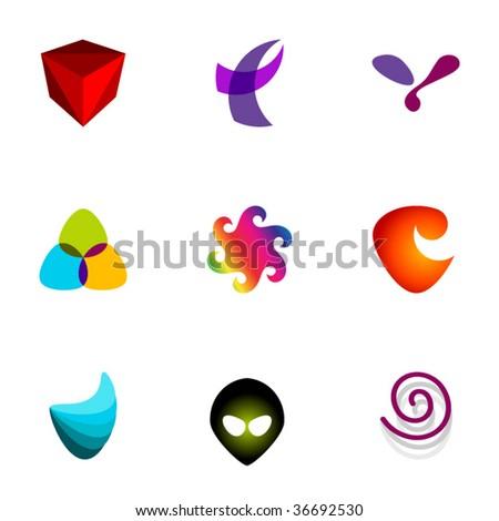Design elements or logotype design - Set 68