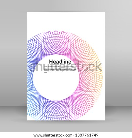 Design elements. Ring circle elegant frame border. Abstract Circular logo element on white background isolated. Creative art. Vector illustration EPS 10 digital for promotion new product