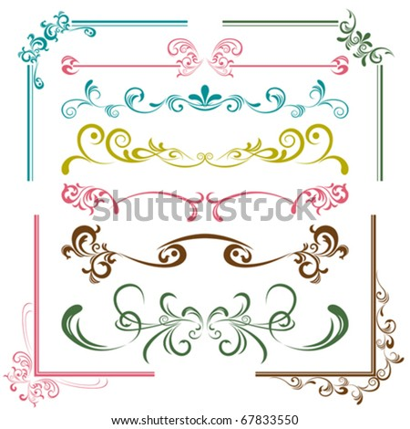 Design elements set. Illustration vector.