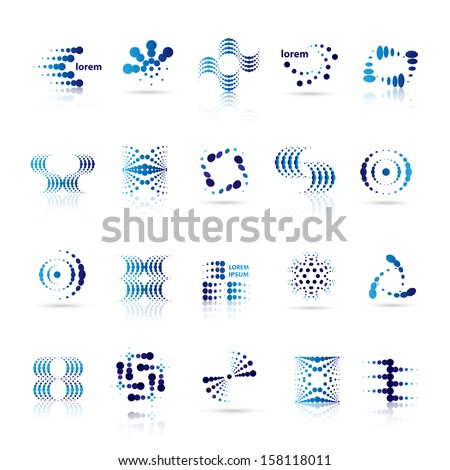 Design Elements Set - Isolated On White Background - Vector Illustration, Graphic Design Editable For Your Design