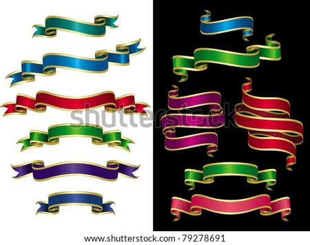Design elements (Set 3) Set of multicolored banners.