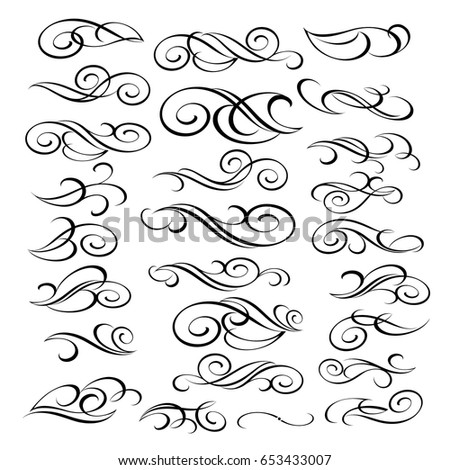 Design elements.Vector illustration.Black  on white.