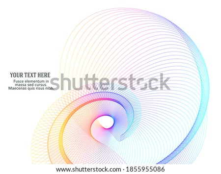 Design elements. Wave of many purple lines circle ring. Abstract vertical wavy stripes on white background isolated. Vector illustration EPS 10. Colourful waves with lines created using Blend Tool Foto stock ©