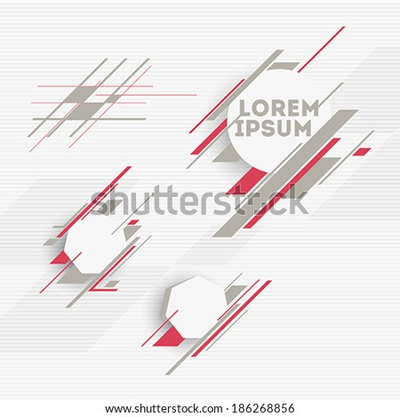 Design elements with abstract geometric forms