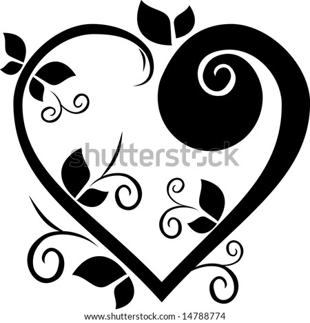 Heart Shaped Tattoo Designs on Design Floral Heart Tattoo Stock Vector 14788774   Shutterstock