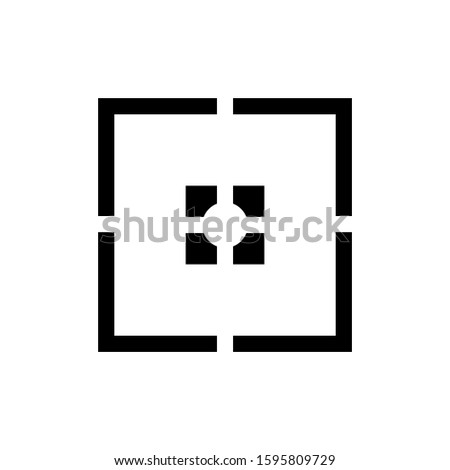 design focus icon symbol vector