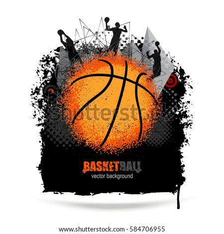 design for basketball grunge