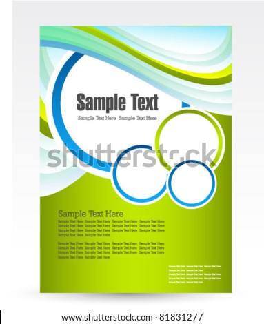 design for business flyer vector