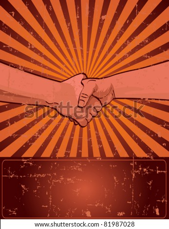 Design for Labor Day with worker?s handshake - stock vector