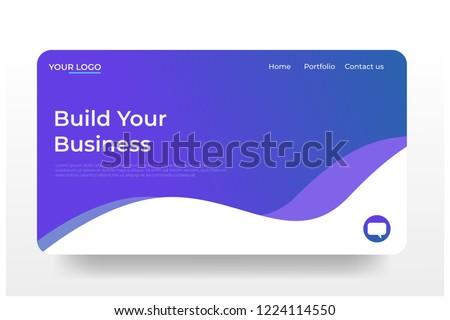 Design for Landing Page on blue background. 3d isometric flat design. Vector illustration.