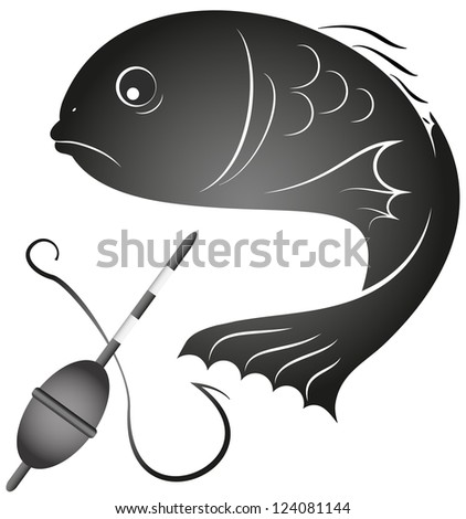 design for the fishing business, silhouette