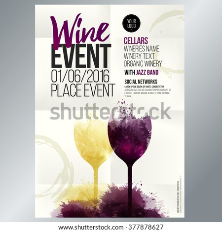 design for wine event suitable