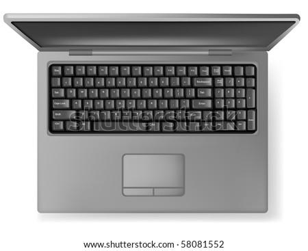 Design gray notebook (laptop). Vector.