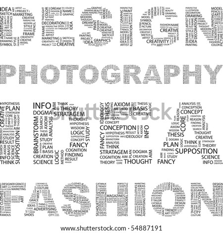 DESIGN. Illustration with association terms in white background.
